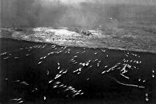 New 5x7 World War II Photo: 1st Wave of Landing Craft on Iwo Jima