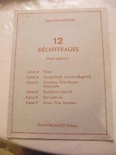 Partition 12 déchiffrages Degré supérieur Clarinette Sib Désiré Dondeyne