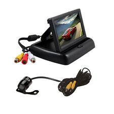 "4.3"" TFT LCD Monitor+Car Rear View System Backup Reverse Camera Kit Waterproof"