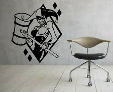Harley Quinn Wall Vinyl Decals Super Hero Sticker DC Comics Art Decor (30jbat)