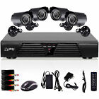 H.264 4CH DVR 600TVL CCTV Home Security 4 IR Outdoor Night Camera Alarm System