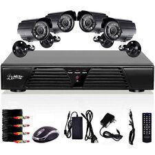 H.264 4CH DVR 600TVL CCTV Home Security 4 IR Outdoor Night Camera Alarm System