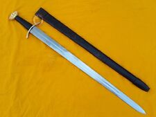 Viking lobed sword with leather scabbard