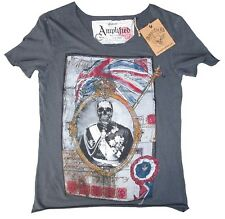 Corneo AMPLIFIED Saint MONARCA DECEDUTO Teschio Rock Star Vintage T-Shirt (g).M