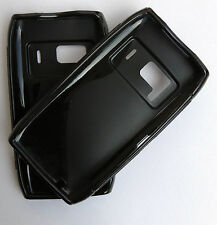 For Nokia N8 Shockproof Silicon Back Case Cover Black Original Photos Updated
