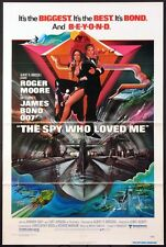 THE SPY WHO LOVED ME ROGER MOORE JAMES BOND 1977 1-SHEET NEAR MINT