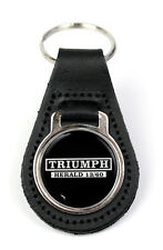 Triumph Herald 13/60 Logo Quality Black Leather Keyring