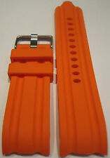24 mm Orange Replacement Silicon Band Fit Nautica Watch BFD 100 N15565G N15566G