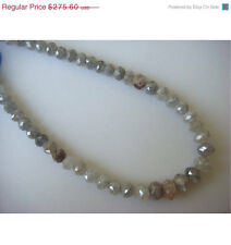 Natural 2 Beads Rough Natural Raw Diamond Faceted Gemstone Beads 3mm GK6