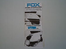 advertising Pubblicità 1978 FOX UTAH e VESPA