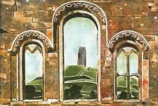 LEILA WISHART Signed Aquatint Etching GLASTONBURY TOR c1990