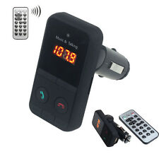 Bluetooth Wireless Car MP3 Player FM Radio Transmitter + USB SD Card Remote Kit