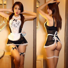 Sexy Women French Maid Uniform Fancy Dress Costume Hen Party Ladies Outfit New