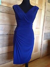 Adrianna Papell Dress Size 4 Navy Blue Asymetrical Sleeveless Formal Cocktail