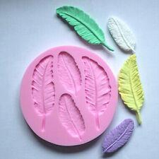 Feather Silicone Handmade Fondant Cake Decorating DIY Moulds Baking Tools Xmas