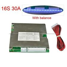 16S 48V LifePO4 Lithium Cell 30A Battery Protection BMS PCM Board with Balance