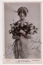 Vintage RPPC Autographed by Sitter Dorothy Ward English pantomime actress