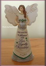 IRISH BLESSINGS ANGEL FIGURINE WITH CLADDAGH BY PAVILION ELEMENT U. S. FREE SHIP