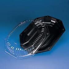 Petit noir plateaux & clear couvercles, sandwich plateaux buffet plateaux traiteur (10)