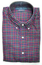 RALPH LAUREN BLUE RED YELLOW FLANNEL PLAID SHIRT NEW TAG $90 BUTTON COLLAR SZ M