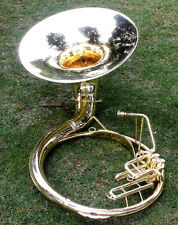 "Sousaphone Brass Metal 20"" Bb ""Chopra"" 3 VALVE WITH BAG MOUTH PIECE SHIP FAST"