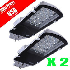 2PACK 24W LED Street Road Pathway Light Outdoor Industrial Cool White 85-265V OY