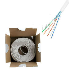 CAT5E FTP STP Gray BULK CABLE SOLID WIRE ETHERNET LAN NETWORK 1000ft USA OY