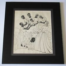 19TH TO 20TH CENTURY BLACK AMERICANA DRAWING ILLUSTRATION COLLECTION UNUSUAL OLD