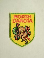 Vintage North Dakota State Souvenir Embroidered Iron Patch Native American