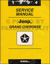 1994 Jeep Grand Cherokee Shop Manual Repair Service Original Limited Laredo SE