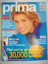 Prima Magazine February 1994. Breast Cancer. Antonio Carluccio. Spring Collectio