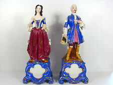 Rare couple figurines statuettes porcelaine Paris 44 cm 5.2 kg Jacob Petit