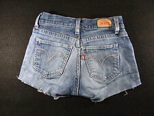 LEVIS 518 CUTOFF JEANS SHORTS Curvy Cut Off W 24 Denim Low Rise Daisy Dukes