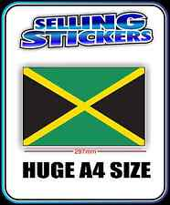 JAMAICAN COUNTRY JAMAICA FLAG VINYL STICKER DECAL BIG A4 SIZE WORLD FLAGS