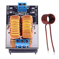NEW 5V-12V ZVS Induction Low Voltage Heating Power Supply Module Board + Coil