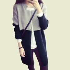 Women Casual Long Sleeve Knitted Cardigan Loose Sweater Coat Outwear Knit Jacket