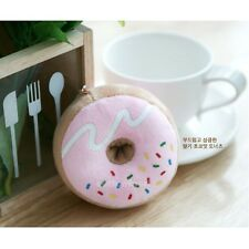 Cotton Food Plush Toy Keychain (Small) - Donut : Pink