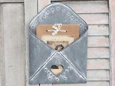 Zinc Métal Lettres Support diens Poste Plateau Vintage Shabby Stockage Chic
