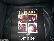 THE BEATLES FULLY LAMINATED LET IT BE MOTION PICTURE & APPLE RECORDS POSTER 1970