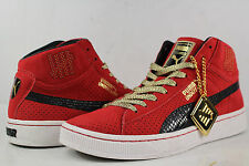 UNDFTD Puma Mid Ribbon Red Black White Gold Size 8