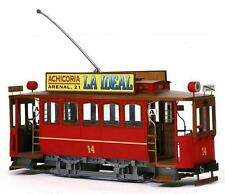 "Elegant, finely detailed model tram kit by OcCre: the ""Cibeles Tram"""