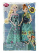 New Disney Store FROZEN Elsa And Anna Summer Solstice 12 Inch Doll Gift Set