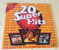 "VARIOUS (LP) ""20 SUPER HITS-SUPER STARS"" [RUBETTES/SEDAKA/THE NEW SEEKERS...]"