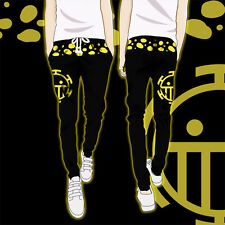 Anime One Piece Trafalgar Law Pants Cosplay Sport Casual Trousers Sweatpants New