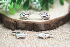 25pcs--Whale Charms Fish Charms, silver Baby Carriage Charms Pendants 14x10mm