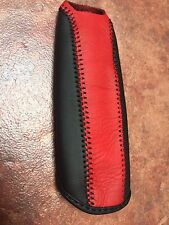 06-11 HONDA CIVIC REAL LEATHER EBRAKE HAND BRAKE COVER WITH RED TOP/BLACK BOTTOM