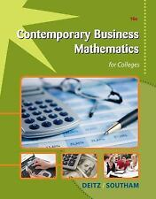 Contemporary Business Mathematics for Colleges (with CD-ROM)-ExLibrary