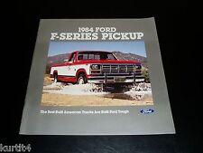 1984 Ford F150 F250 F350 pickup truck sales brochure deluxe dealer literature