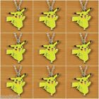 Lot 9pcs New Pokemon Pikachu Pendant Charm Necklace Girls Birthday Favor Gifts