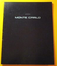 1995 CHEVROLET MONTE CARLO SALES SHOWROOM BROCHURE..34-PAGES